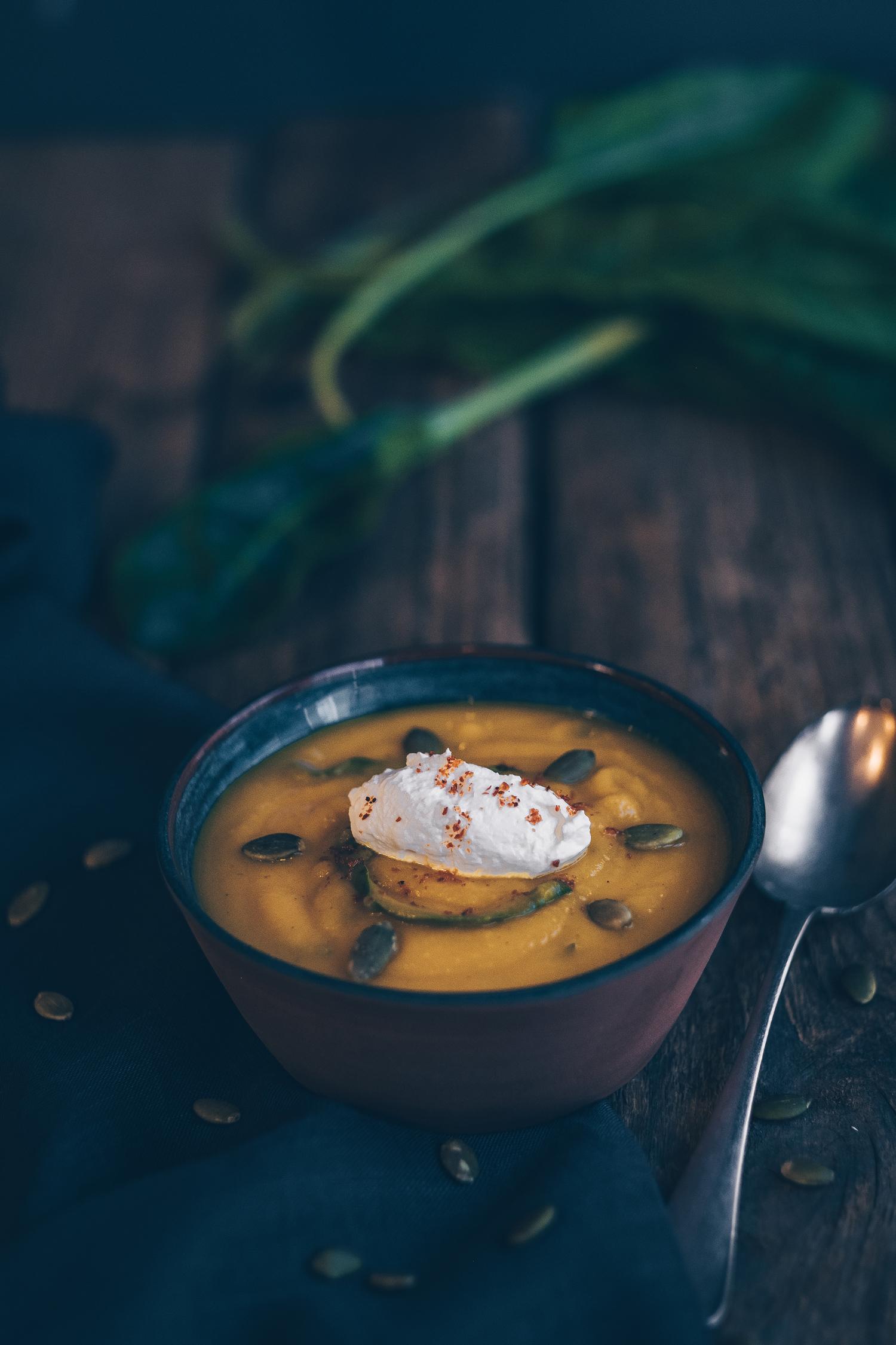 Zencefilli Pazılı Balkabağı Çorbası|